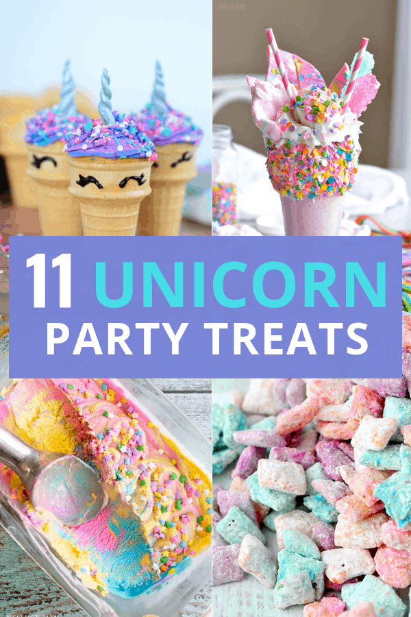 Unicorn party food ideas for your unicorn birthday party! These whimsical unicorn birthday party treats will not disappoint!