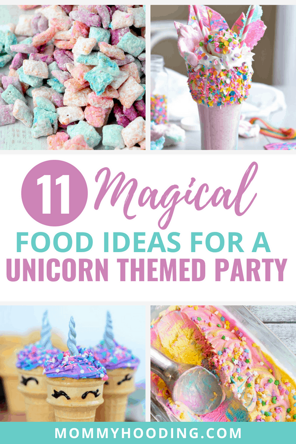 11 Amazing recipe and food ideas for a unicorn themed party. These are perfect for a unicorn birthday party or a unicorn bridal shower.