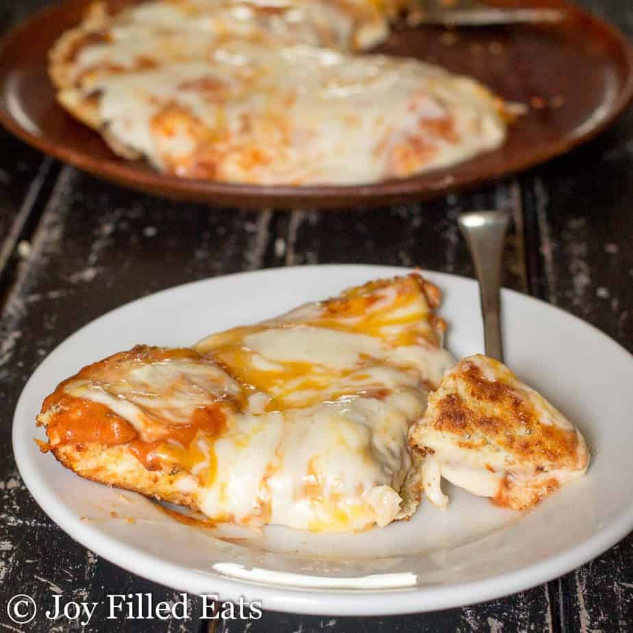 Keto Pizza Recipe - Skillet Pizza from Joy Filled Eats