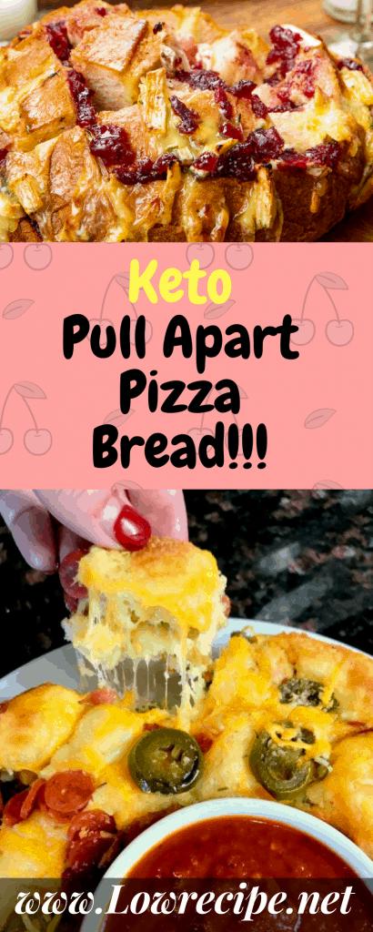 keto pizza recipe - keto pull apart pizza bread
