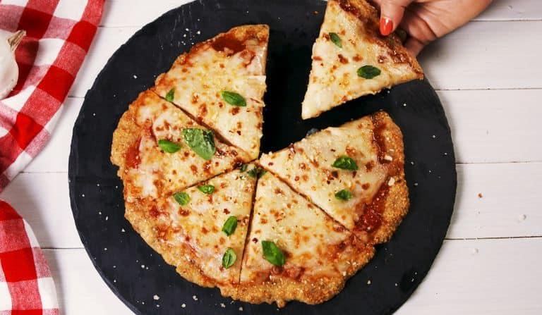 A delicious Keto Pizza Recipe - Keto Chicken Parm Pizza
