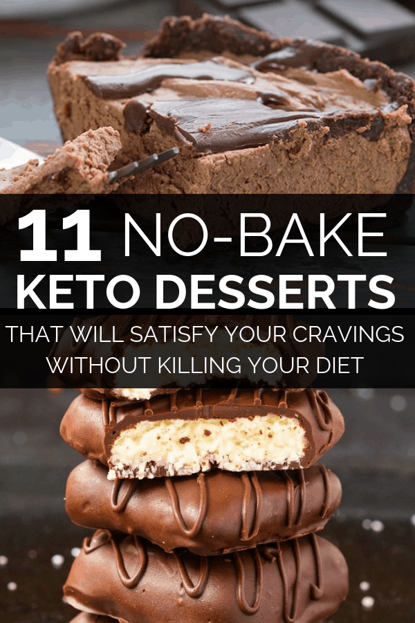 11 no-bake keto desserts that are easy to make. These easy keto dessert recipes are sure to kick your cravings without throwing you out of ketosis, while you're on the ketogenic diet!