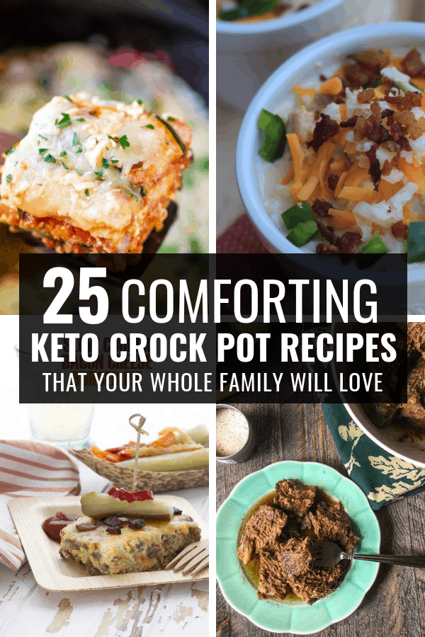 Are you looking for quick dinner ideas while on the keto diet? These 25 slow cooker keto dinner recipes will be your new favorites. Your whole family will love them and will keep you in ketosis.