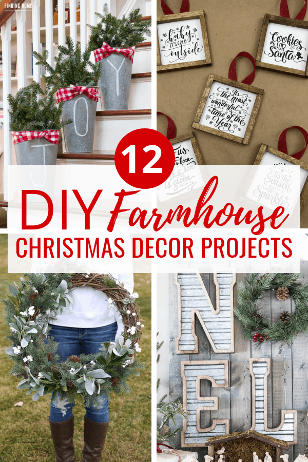 12 adorable DIY farmhouse decor tutorials to use when decorating your house for this Christmas season. These farmhouse christmas ideas will inspire your holiday decorating!