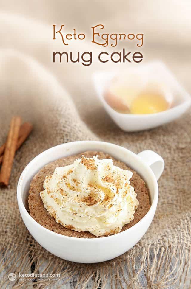 Eggnog Keto Mug Cake
