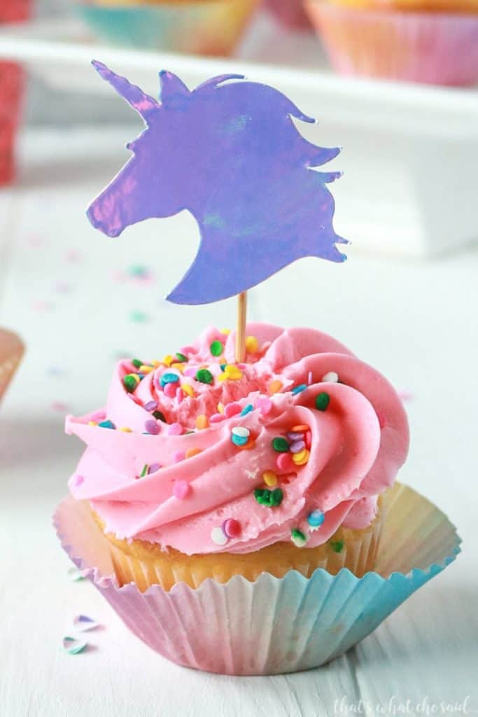 diy unicorn cupcake