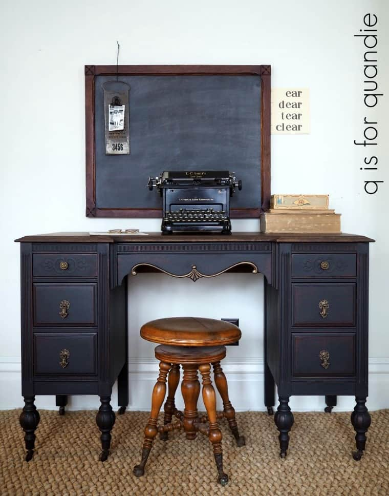 Black Painted Desk