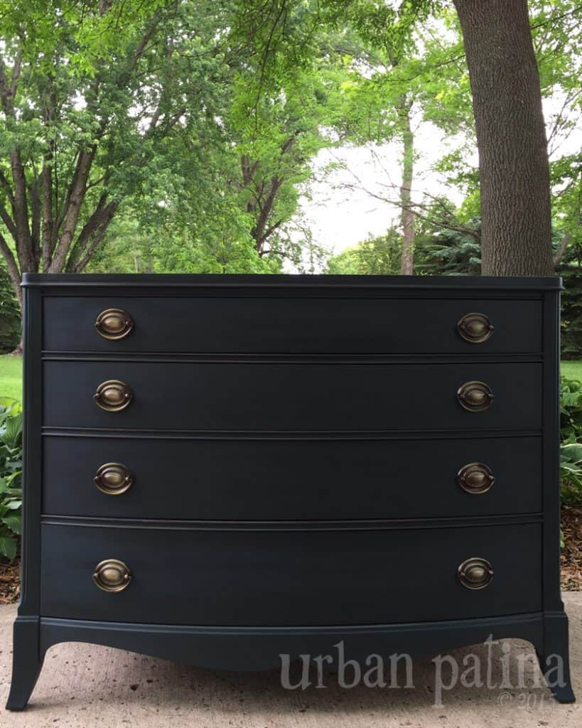 black painted dresser