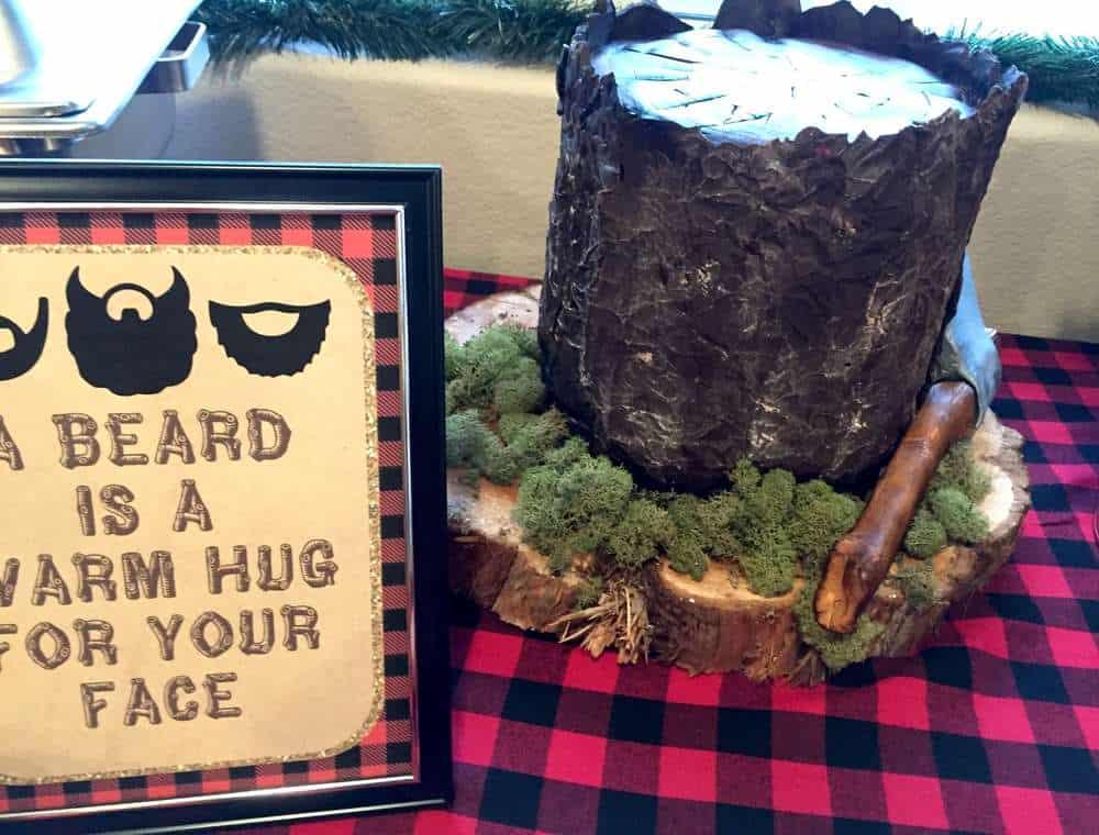 lumberjack log cake