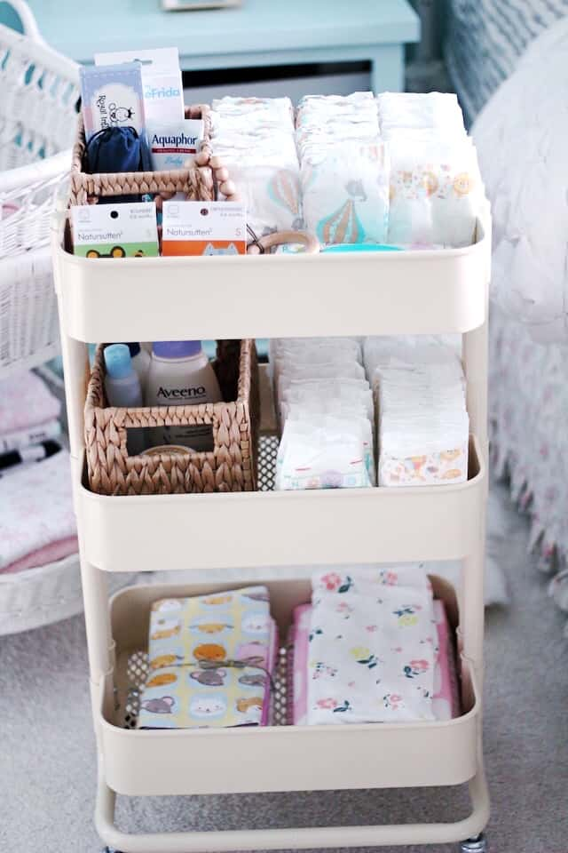 DIY organization ideas nursery