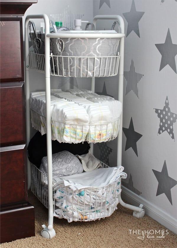 DIY nursery organization