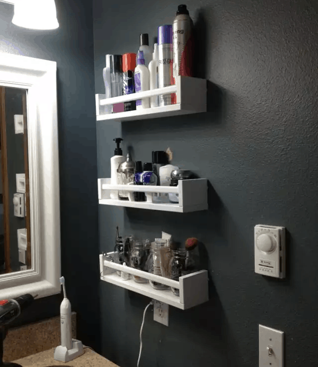 Small bathroom storage ideas!