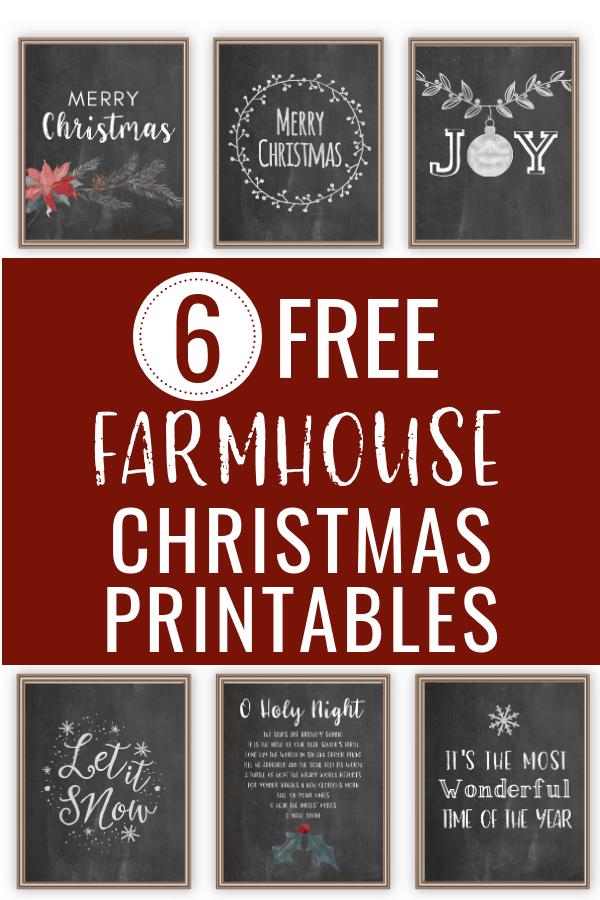 Free chalkboard Christmas printables!