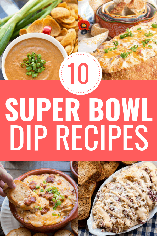 Let's get Super Bowl party ready with these top 10 Super Bowl dip recipes! Every recipe is a different dip that is perfect for game day! If you're looking for Super Bow food ideas, these dip recipes should defintely be on your list of party food ideas to try. l#superbowl #superbowlappetizer