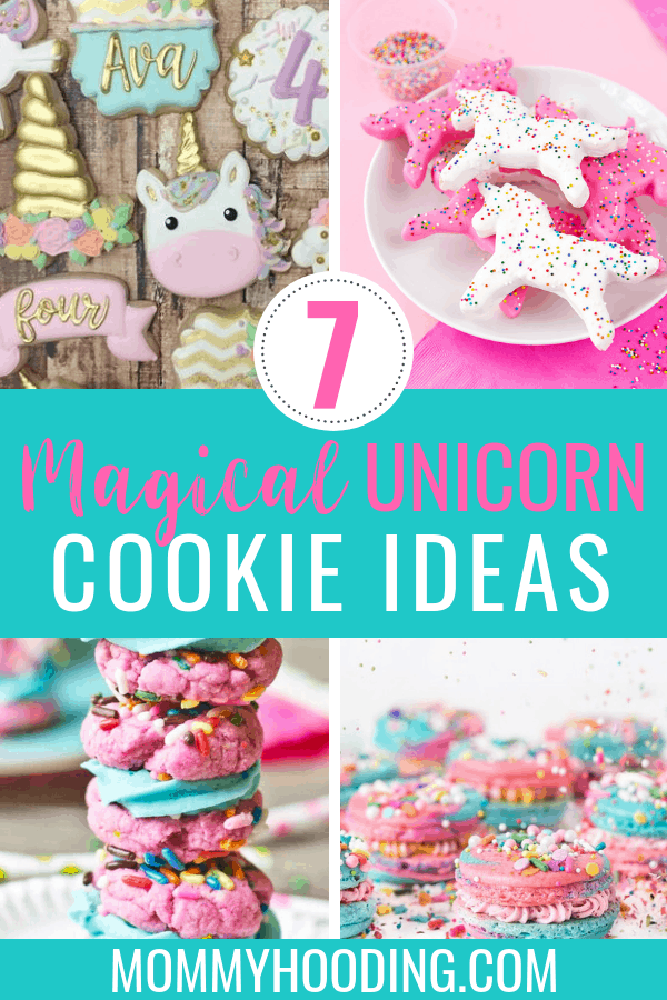 Are you planning a unicorn birthday party? Or just looking to bake fun, unicorn cookies? Try out these 7 magical unicorn cookie recipes! #unicorn #unicorncookies