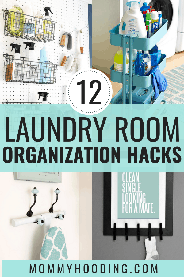 Let's organize your laundry room! These laundry room organization ideas will help you control clutter and help you tackle any challenge you may have in the laundry room, whether it be a small laundry room, or even if you're on a budget. These laundry room organization hacks include ideas for a drying rack, storage and more. #laundryroom #laundryroomorganization
