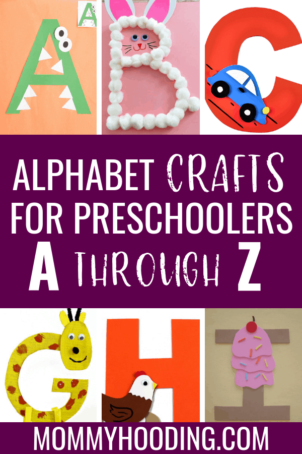 Are you teaching letters to your toddler or preschooler? Teach them letter recognition, letter sounds and more with these fun letter of the week crafts and letter activities! #teachletters #toddlercrafts