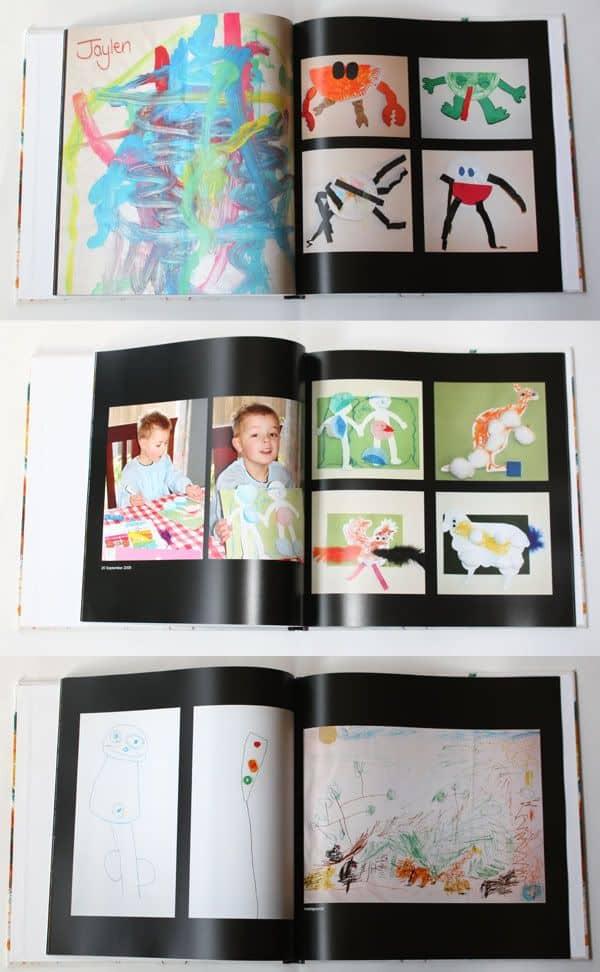 Kids' artwork storage and display