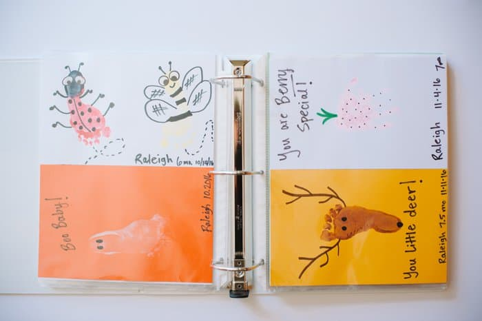 Store your kids artwork in a binder!
