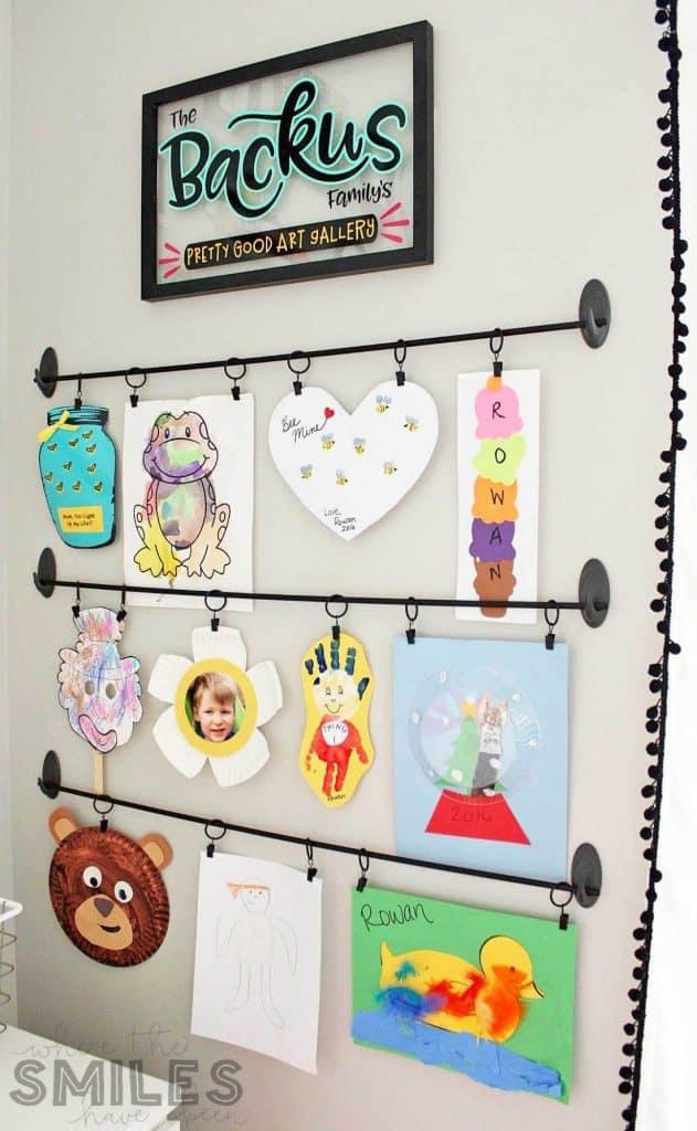 kids art work display idea