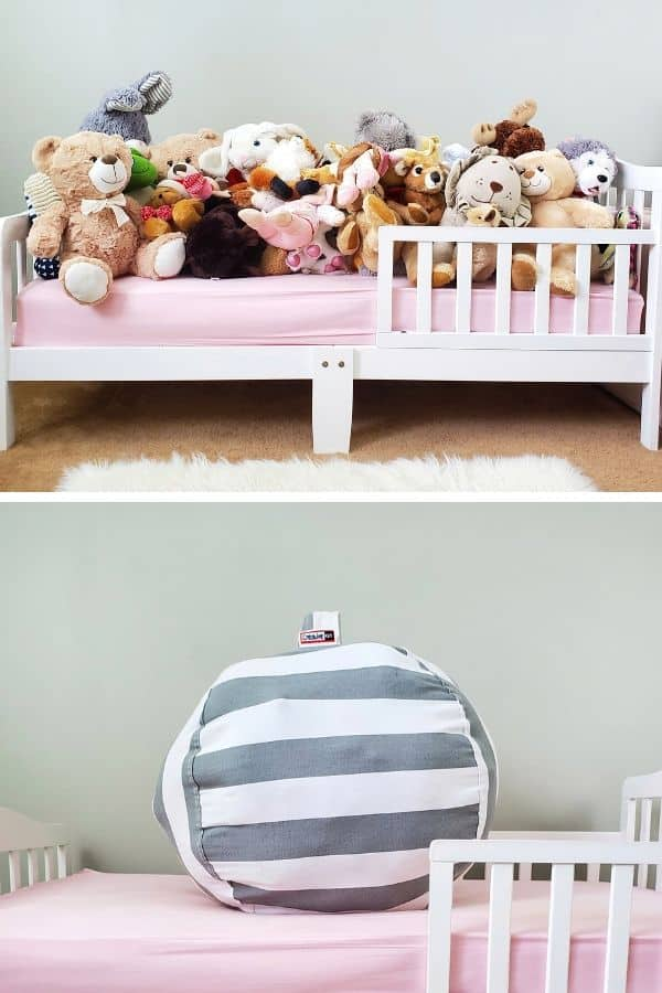 stuffed animal storage idea - stuffed animal bean bag storage