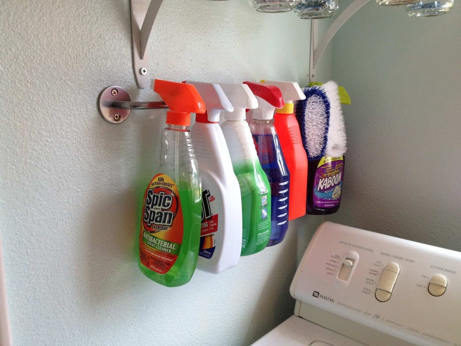 laundry room organization hack for small spaces