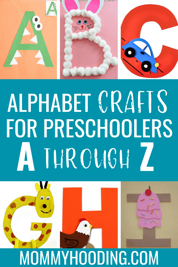 Are you teaching the alphabet to your toddler or preschooler? Try these letter crafts to help teach letter recognition, letter sounds and more. This letter of the week craft series includes free letter activities and letter printables from various bloggers! #alphabet #letters
