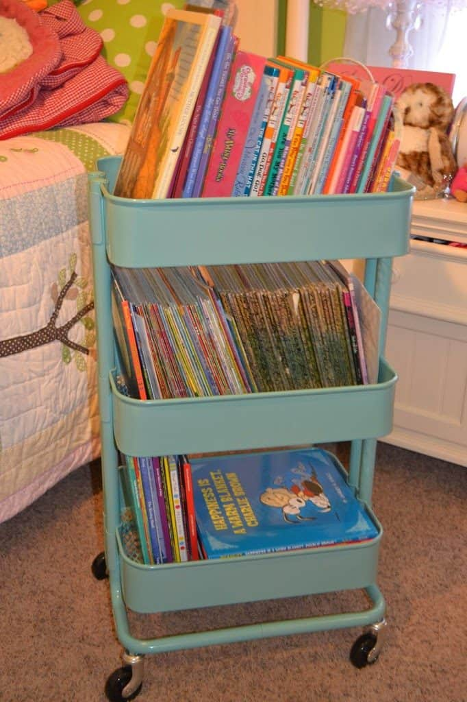 book storage ikea cart