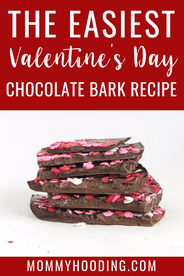 Are you looking for a Valentine's Day gift idea? This is the EASIEST Valentine's Day dessert or candy to make! This Valentine's Day bark is delicious and is very simple to make. #valentinesdaydessert #valentinesdaygiftidea