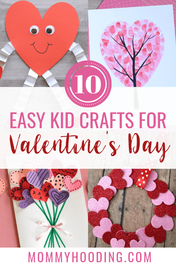 Valentine's Day is right around the corner! Are you looking for Valentine's Day crafts to do with the kids? Check out these 10 easy Valentine's Day crafts for kids that anyone can do! #valentinesdaycrafts #valentinesday