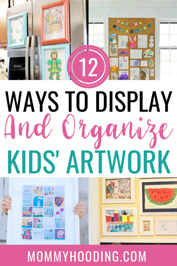 Are you looking for kids' artwork display ideas? Check out these 12 genius kids artwork storage and display ideas! This is ideal for those looking to keep their kids artwork as a keepsake or hang kids artwork on walls. #kidsartworkdisplayideas