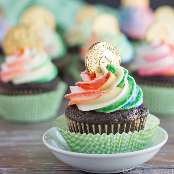 Pot of Gold St. Patrick's Day Cupcake Recipe