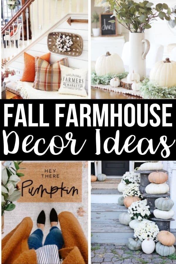 Fall Farmhouse Decor Ideas   How to ROCK your fall farmhouse decorations this year with the newest fall farmhouse decor trends. #fallfarmhouse #falldecor #farmhousedecor