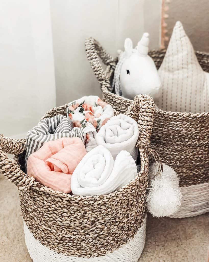 Nursery storage ideas - baskets