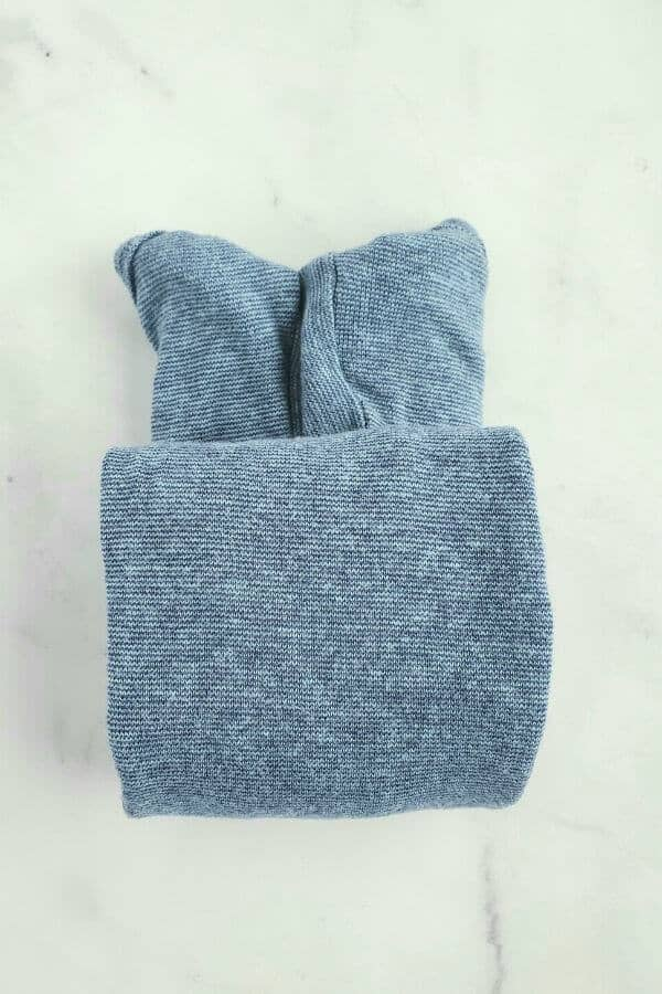 How to fold onesies using the Marie Kondo method.